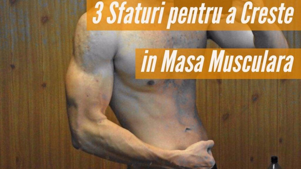 Cum Cresc in Masa Musculara ? | 3 Sfaturi