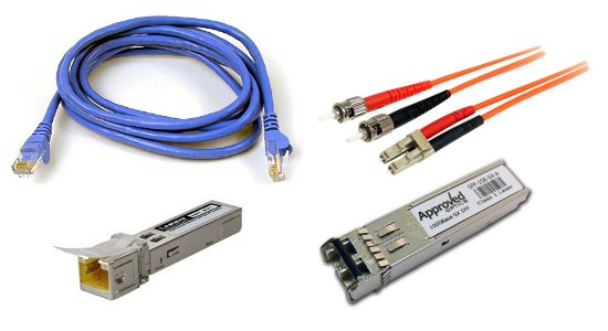 cablu UTP pentru retea si fibra optica
