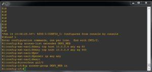 cum configurez un acl extended pe router sau firewall cisco