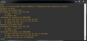 cum verific configurarea acl extended cu filtrare http pe firewall sau router cisco