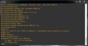 traficul icmp e blocat de firewall sau router cisco