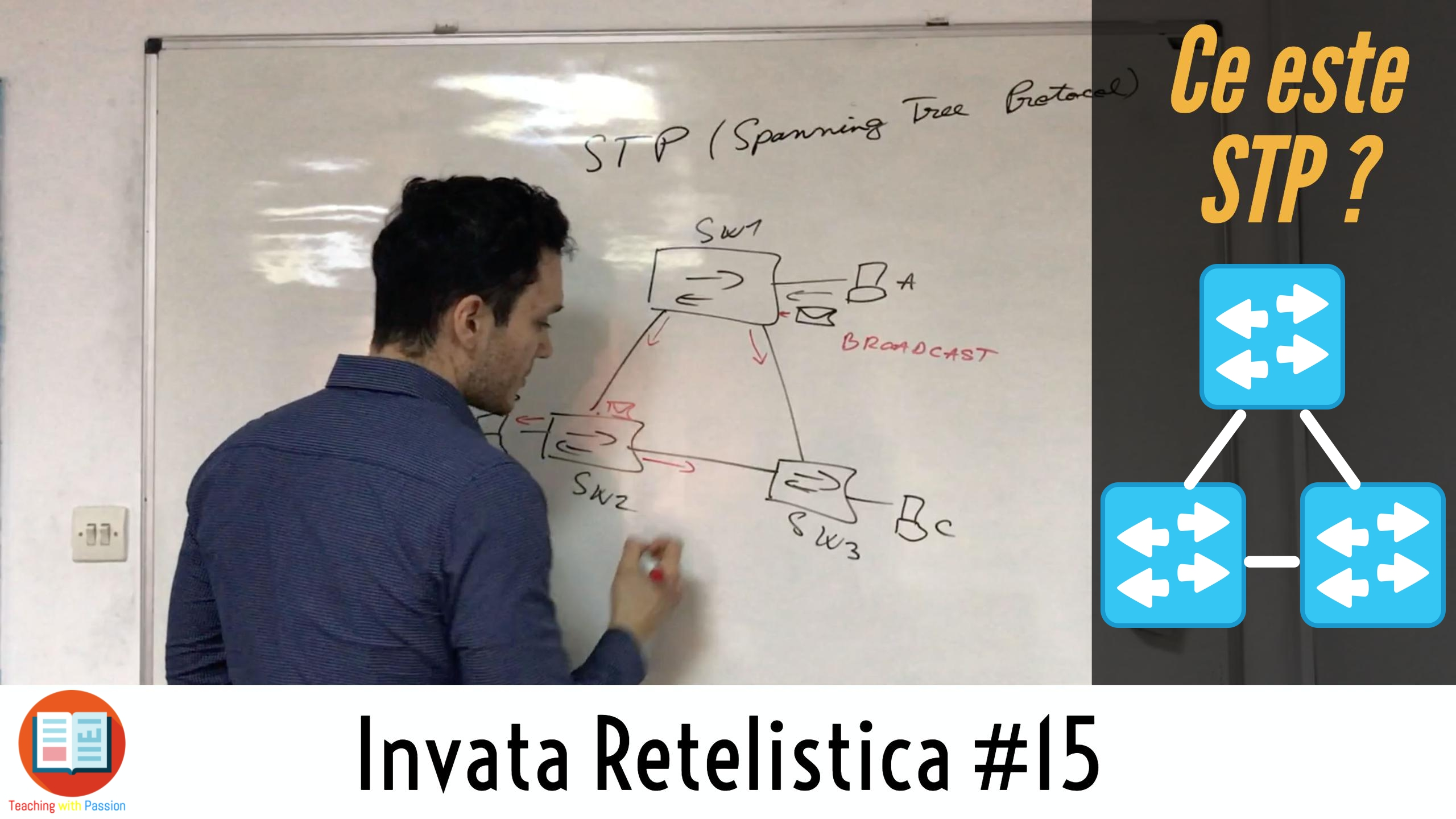 Ce este STP (Spanning-Tree Protocol) si cum Functioneaza pe Switch-uri ? | Invata Retelistica #15