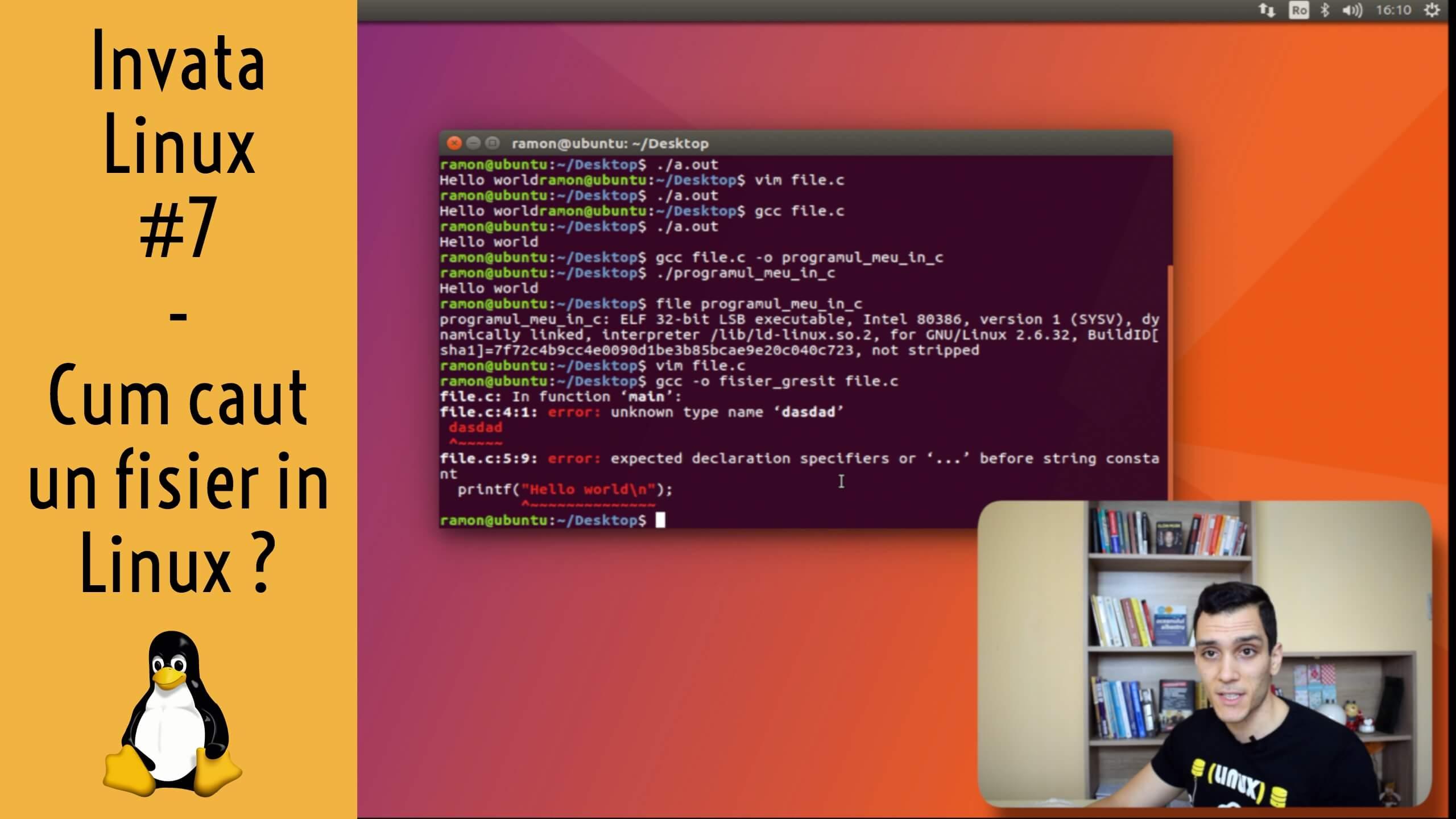 💻 Cum caut un fisier in Linux din Terminal ? | Utilitare in Linux | Invata Linux #7