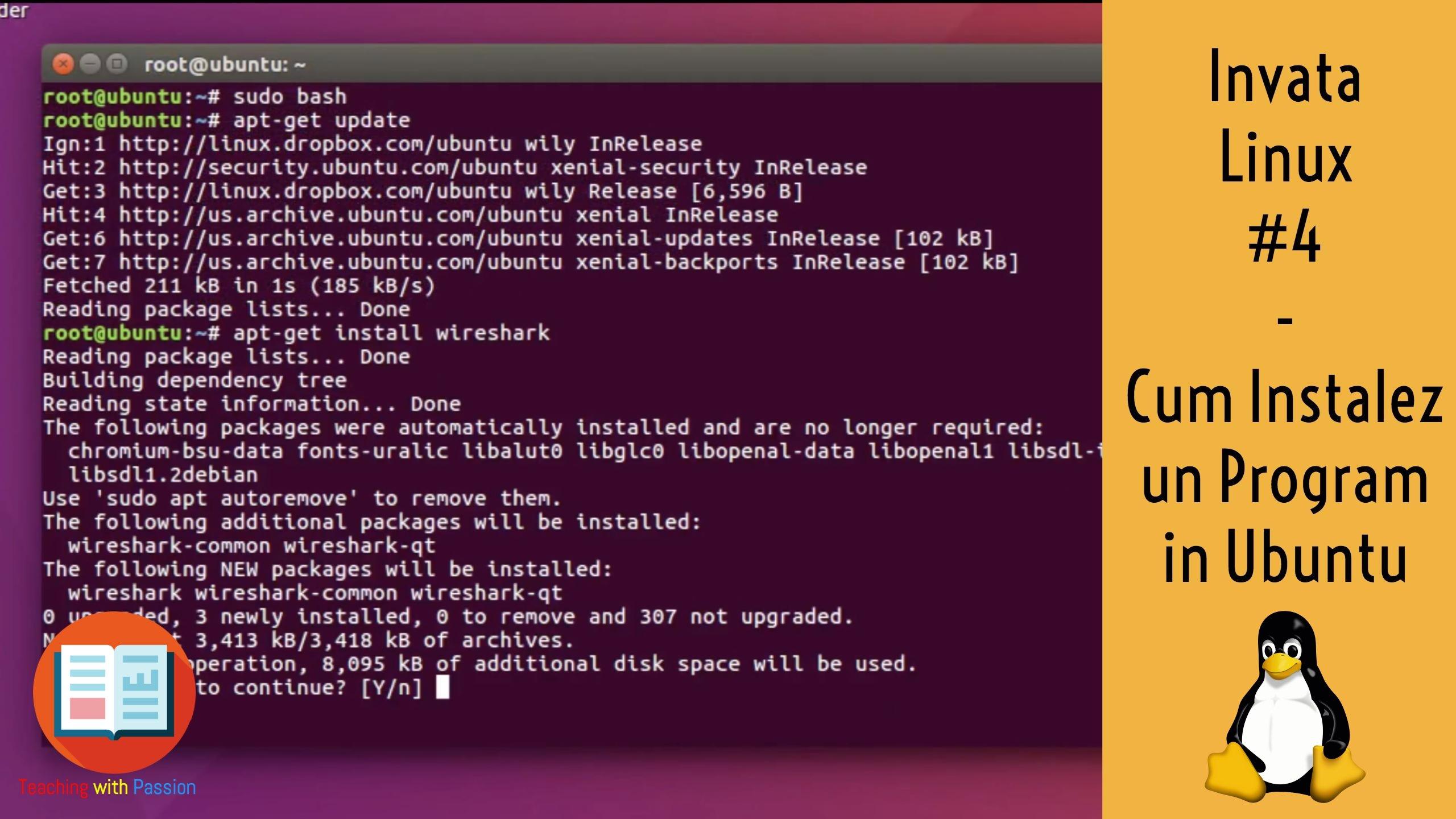 Cum instalez un program in Ubuntu din Terminal ? | Utilitare in Linux  | Invata Linux #4