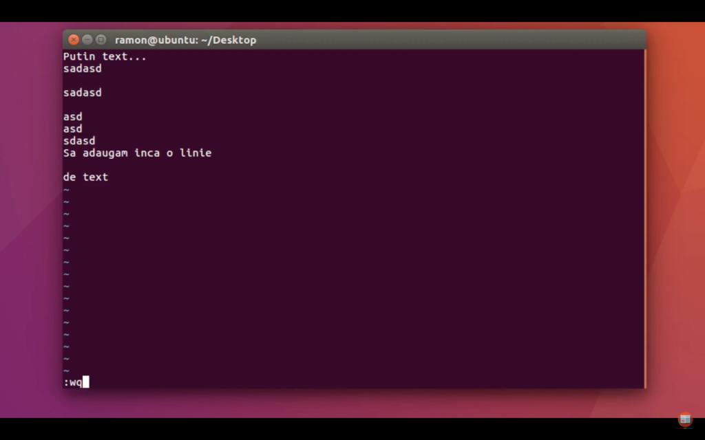cum editez un fisier din terminalul linux