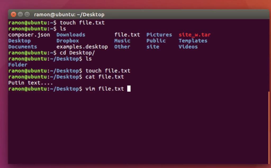 utilitare in linux din terminal cu editare de text prin vim cu fisiere