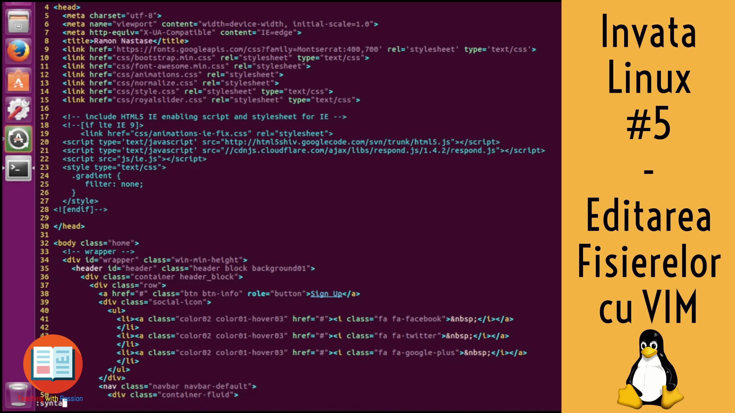 Cum editez un fisier din Terminalul Ubuntu Linux cu VIM ? | Invata Linux #5