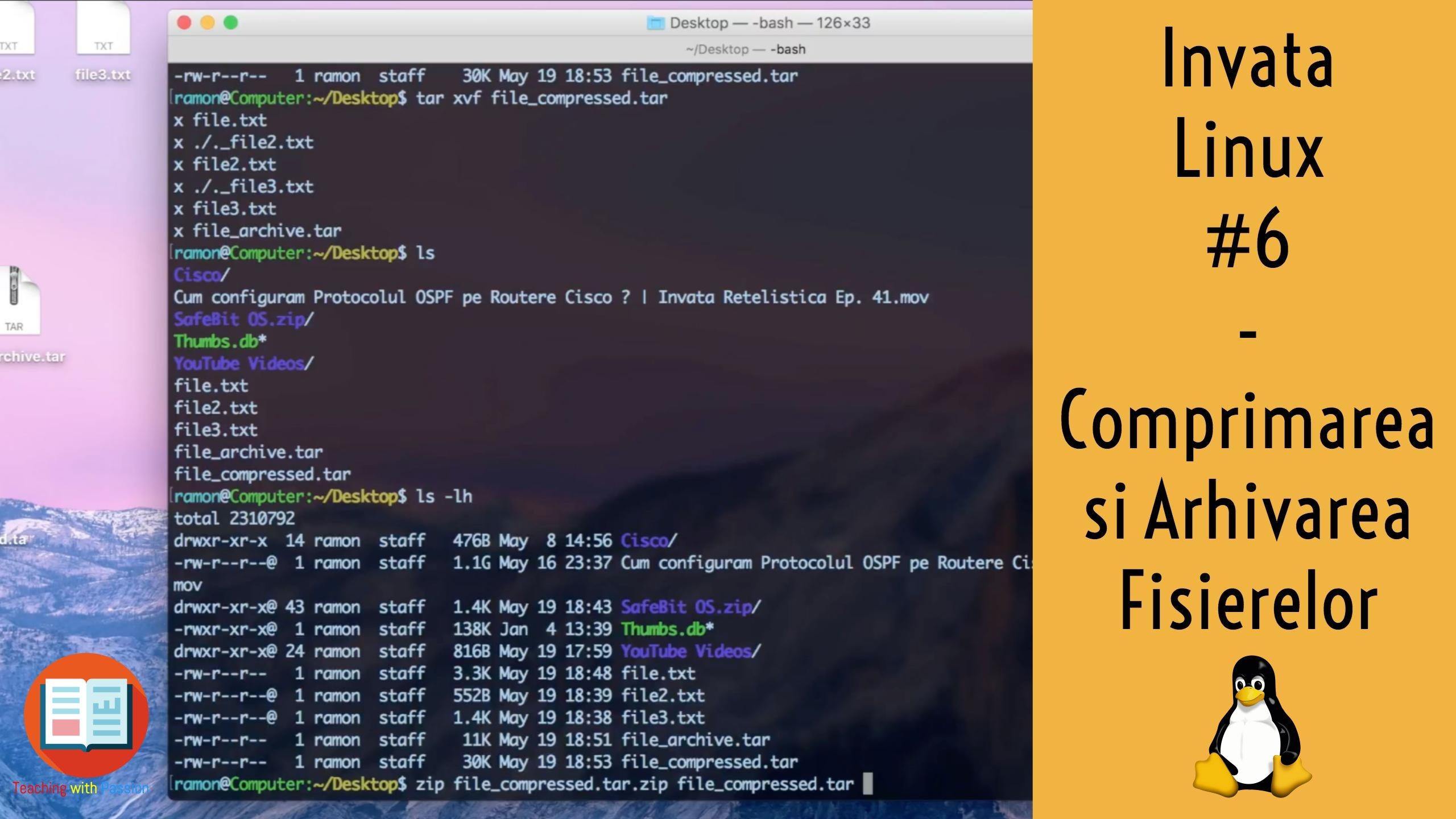 Comprimarea si Arhivarea fisierelor in Ubuntu Linux | Invata Linux #6