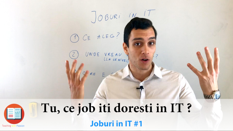 🎓 Cum sa obtii un Job in domeniul IT ?