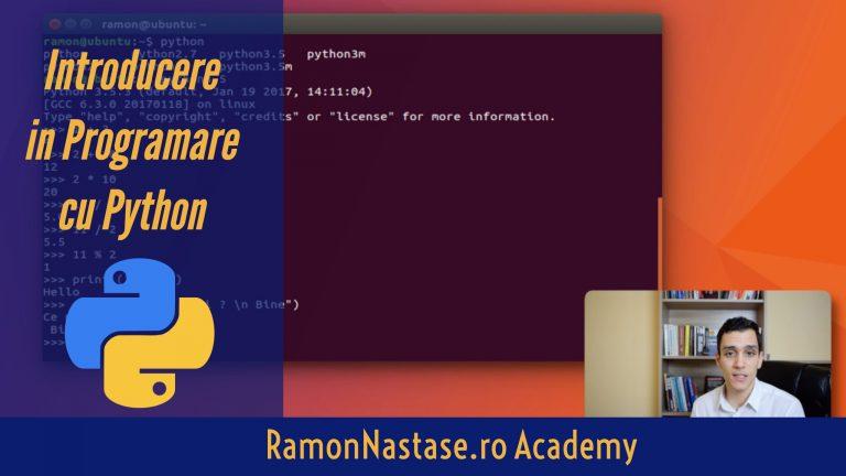 curs introducere in programare cu python