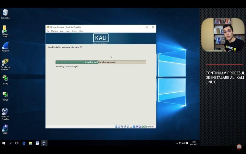 tutorial proces de instalare kali linux