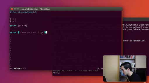 💻 Cum sa faci un Script in Python folosind Linux - - Invata Programare #4