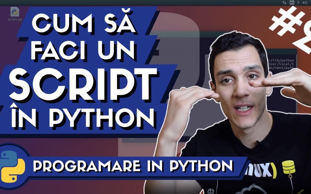 💻 Cum sa faci un Script in Python din Linux ? | Invata Programare #2