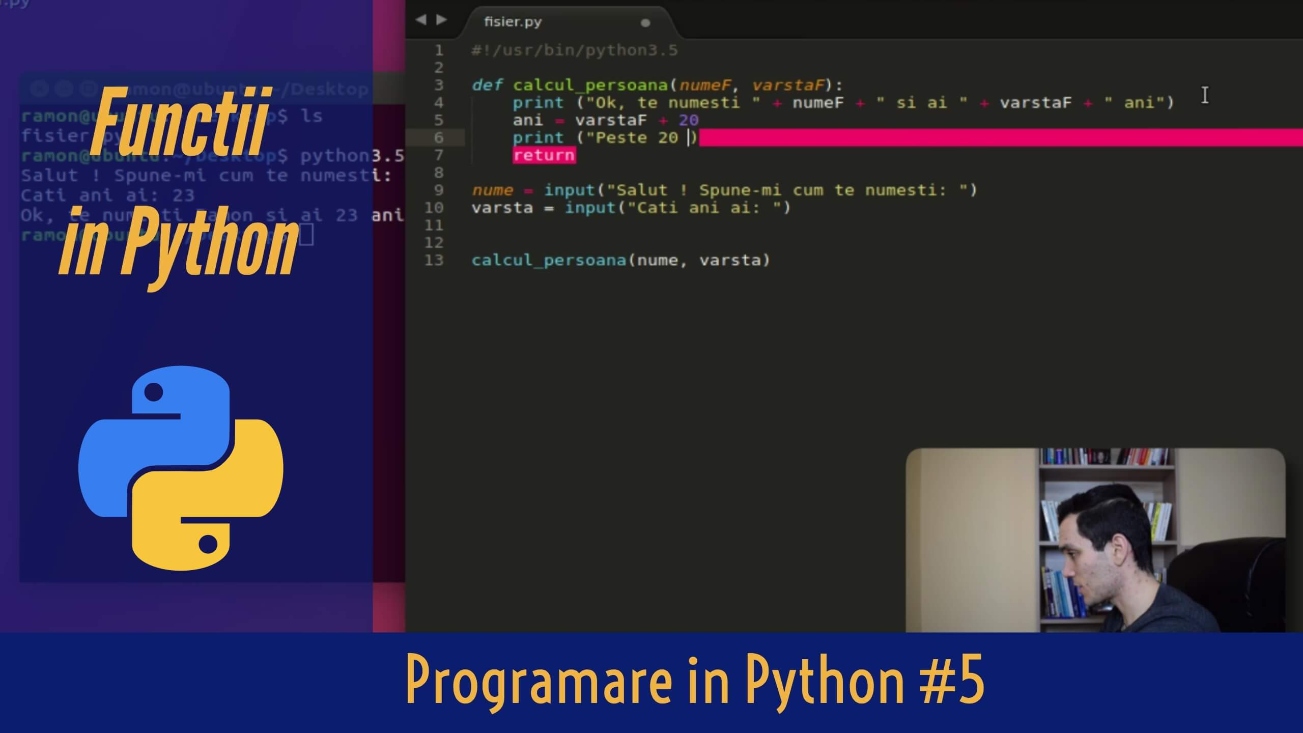 💻 Ce este o Functie in Programare si cum definesti o Functie in Python ? | Invata Programare #5