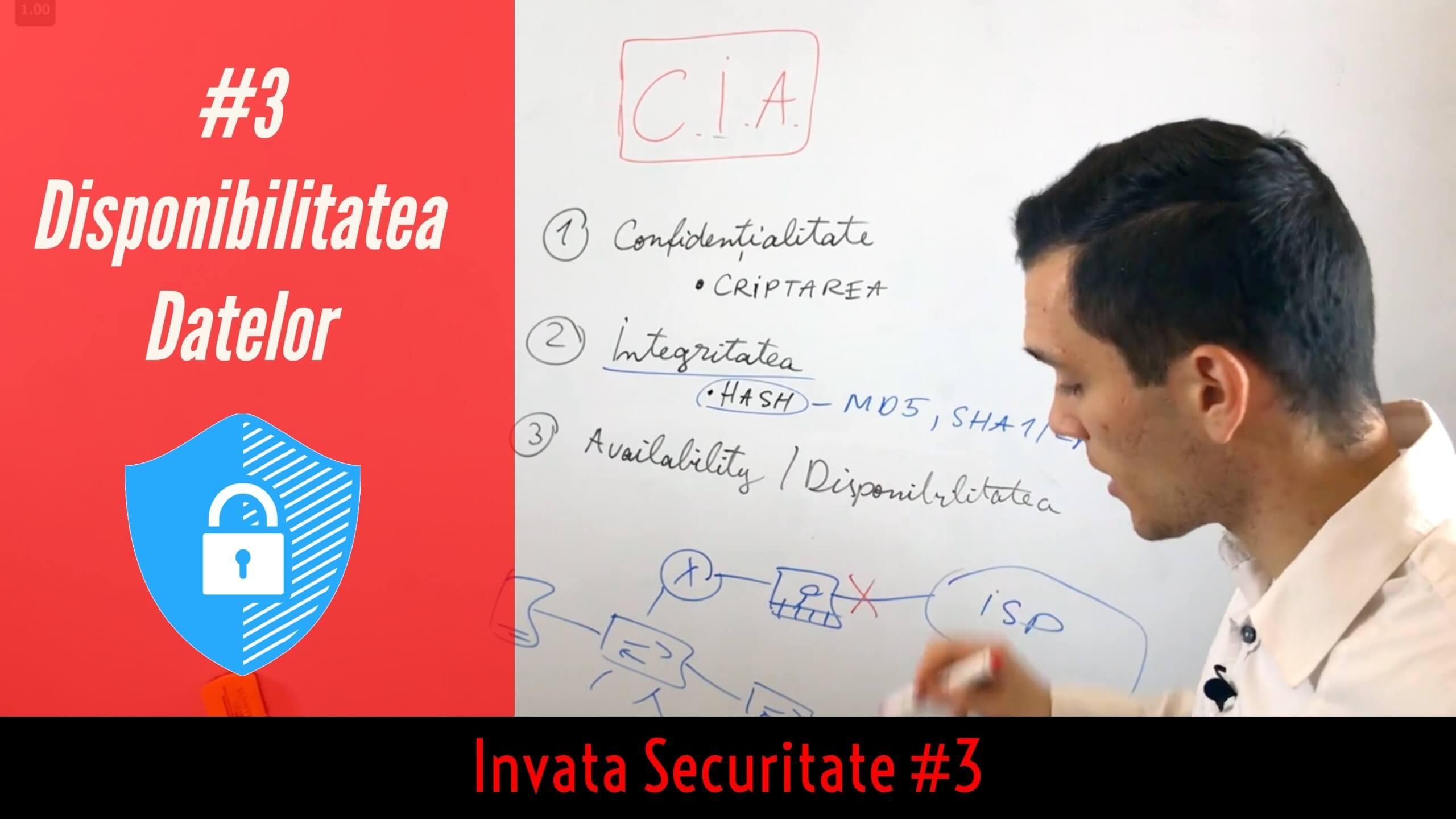 🛡Introducere in Securitate Cibernetica   Disponibilitatea datelor   Invata Securitate #3