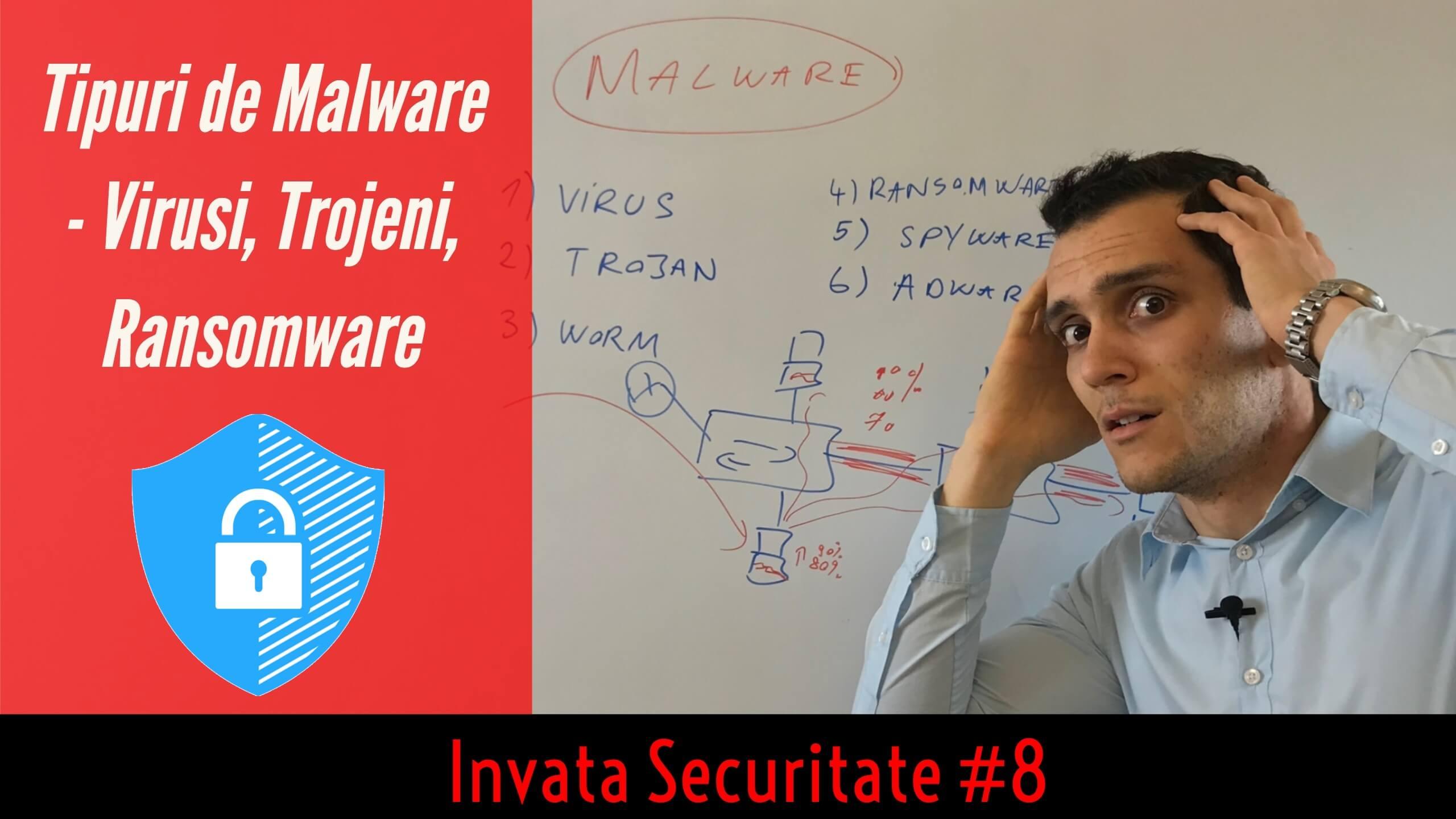 😈 Ce este un Malware si de cate Tipuri poate fi (Virusi, Trojeni, Ransomware, etc.)  | Invata Securitate #8