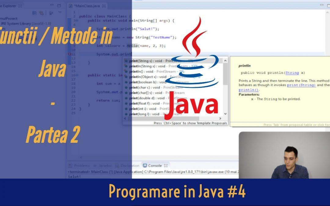 💻 Metode si Functii Care Returneaza o Valoare in Java | Programare in Java #4