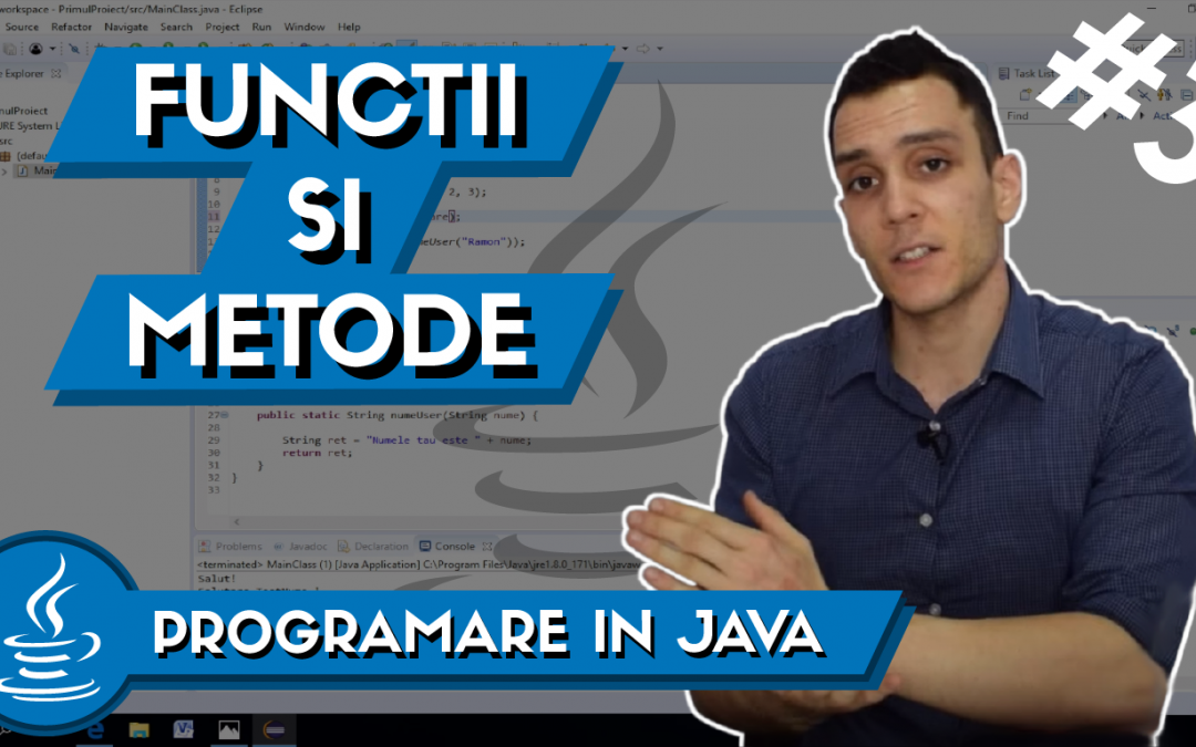 💻 Metode si Functii Care Returneaza o Valoare in Java | Programare in Java #3 – Part 2