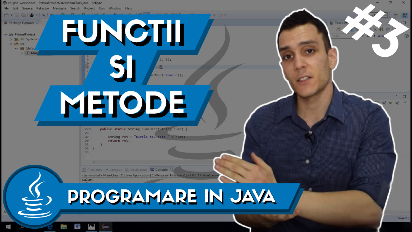 functii si metode in Java - programare in java