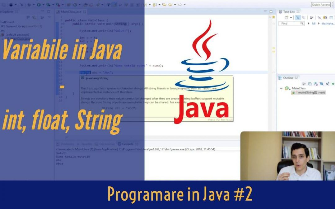 💻 Cum sa Creezi Variabile in Java | Programare in Java #2