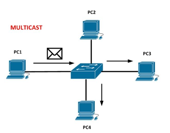 retea multicast