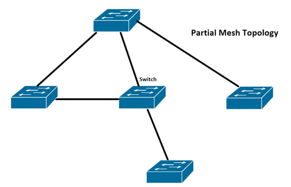 topologie partial mesh - retele de calculatoare